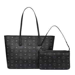 MCM Medium Anya Zip Tote With Pouch